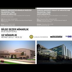 Bilge Sezer Mimarlık ve Uz Mimarlık Sergileri Çankaya Üniversitesi'nde