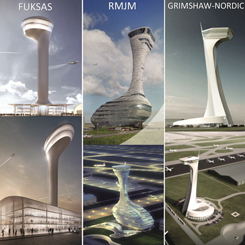 3. Havalimanı'nın Hava Trafik Kontrol Kulesi içinUluslararası Yarışma