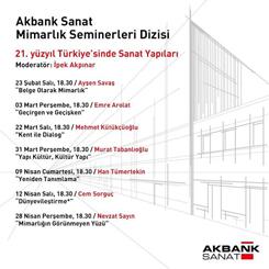 Akbank Sanat Mimarlık Seminerleri Başlıyor