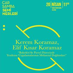 """""""Bakırköy'de Parsel Düzeyinde Yenileme Uygulamalarının Mekânsal Dağılımları"""""""