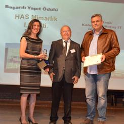 Türkiye Prefabrik Birliği'nden HAS Mimarlık'a Ödül