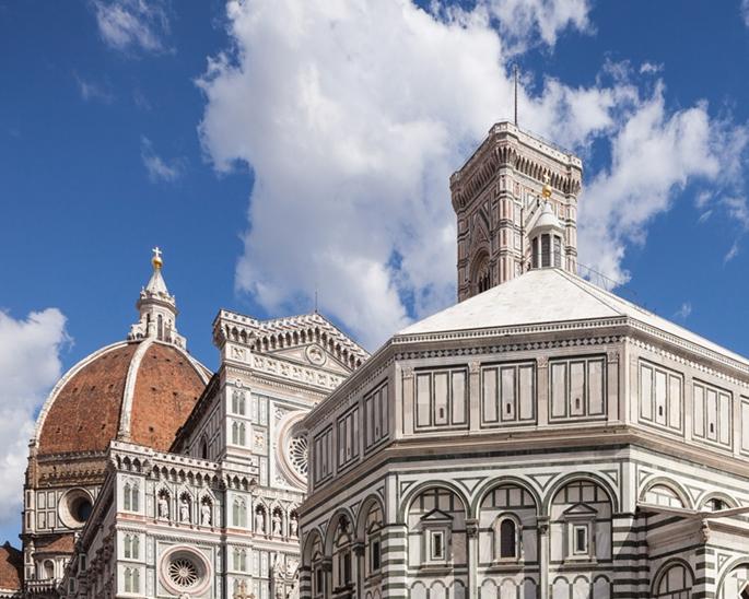 Cathedrale Santa Maria del Fiore - Giotto'nun Çan Kulesi Tower - Battistero di San Giovanni (Vaftizhane), Floransa