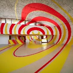 Sanatçı Felice Varini ile Le Corbusier'nin İzinde