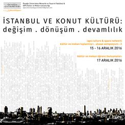 'İstanbul ve Konut Kültürü: Değişim, Dönüşüm ve Devamlılık'