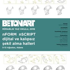 15. Betonart Mimarlık Yaz Okulu Adana'da