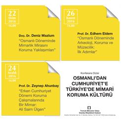Osmanlı'dan Cumhuriyet'e Türkiye'de Mimari Koruma Kültürü Konferansları