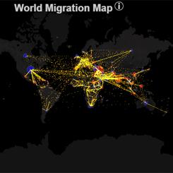 İnteraktif Dünya Göç Haritası