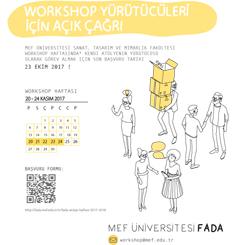 FADA Workshop Haftası'ndan Yürütücülere Açık Çağrı