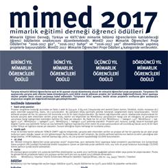 MimED2017 Mimarlık Öğrencileri Proje Ödülleri