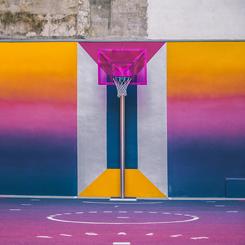 Basketbol Sahasına Sanatsal Müdahale