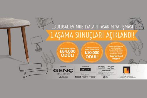13. Ulusal Ev Mobilyaları Tasarım Yarışması'nın Finalistleri Belirlendi