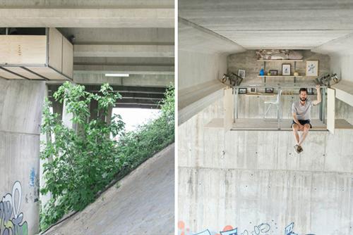 Fernando Abellanas'ın Gizli Köprü Altı Stüdyosu