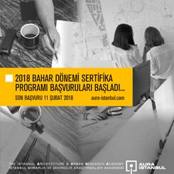 AURA-İstanbul 2018 Bahar Dönemi Sertifika Programı