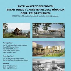 Mimar Turgut Cansever Ulusal Mimarlık Ödülleri 2018
