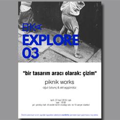"""BKA Explore 03: """"Bir Tasarım Aracı Olarak: Çizim"""""""