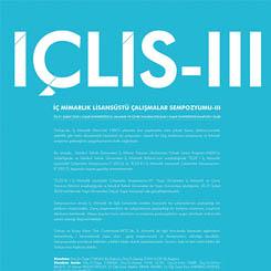İÇLİS-III I İç Mimarlık Lisansüstü Çalışmalar Sempozyumu-III