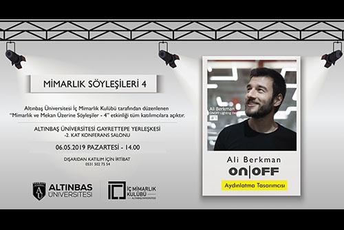 """Altınbaş Üniversitesi """"Mimarlık Söyleşileri-4"""""""