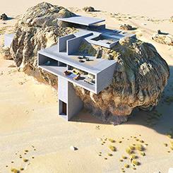 Kayanın İçinde Bir Ev
