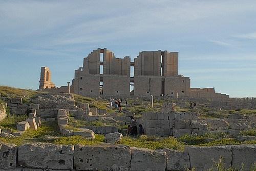 Libya Sabrata'da Roma Tiyatrosu