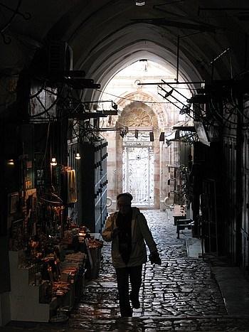 Kudüs / Eski şehir bölgesinde dar ara sokaklar