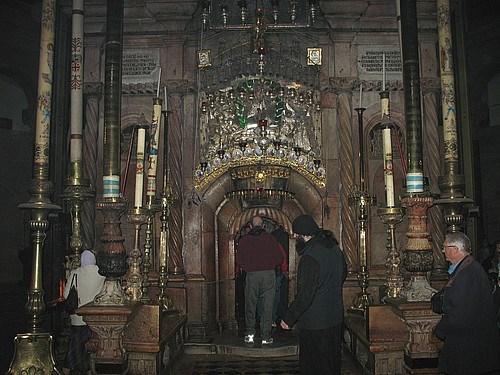 Hz. İsa'nın Kıyamet Kilisesi'ndeki mezarı