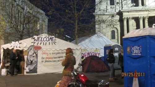 St. Paul's Katedrali Önündeki Eylem