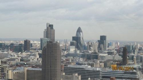 London Eye'dan Merkezi İş Alanı'na Bakış