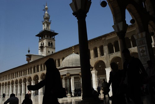 Şam Muaviye Camii Avlusu