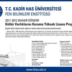 Kadir Has Üniversitesi Kültür Varlıklarını Koruma Yüksek Lisans Programı Kayıtları Açıldı