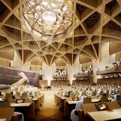 Abu Dhabi'deki Yeni Parlamento, Kentsel Yaşamı Sahile Taşıyacak