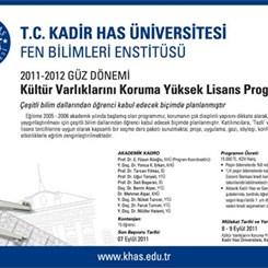 Kadir Has Üniversitesi, Kültür Varlıklarını Koruma Yüksek Lisans Programı