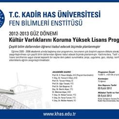 KHÜ Kültür Varlıklarını Koruma YL Programı 2012-2013 Güz Dönemi Kayıtları Açıldı