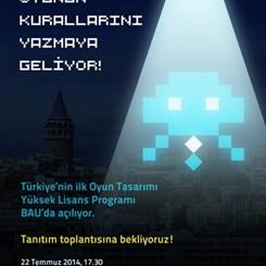 Türkiye'nin İlk Oyun Tasarımı Yüksek Lisans Programı BAÜ'de Açılıyor