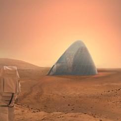 Kızıl Gezegene Buzdan Ev