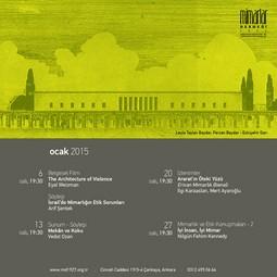 Mimarlar Derneği 1927 Ocak'15 Programı