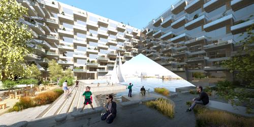 BIG ve Barcode Architects'ten Göl Üzerinde Yüzen Konut...