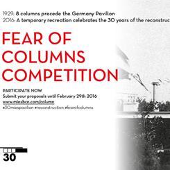 Barselona Pavyonu için Geçici Strüktür Yarışması: 'Fear Of Columns'