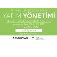 İstanbul Bilgi Üniversitesi Yapım Yönetimi Tezsiz Yüksek Lisans Programı