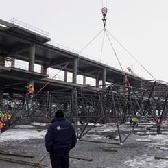 3. Havalimanının Çatı Montajı Başladı