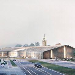 Herzog & de Meuron, Berlin'deki Mies van der Rohe Tasarımı Neue Nationalgalerie İçin Ek Bir Yapı Tasarladı