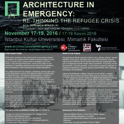"""""""Acil Durumda Mimarlık: Sığınmacı/Mülteci Krizini Yeniden Düşünmek"""" Sempozyumu"""