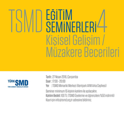TSMD Eğitim Seminerleri 4: Kişisel Gelişim / Müzakere Becerileri