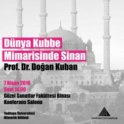 'Dünya Kubbe Mimarisinde Sinan'