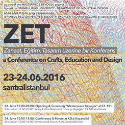 Zanaat, Eğitim, Tasarım Üzerine Bir Konferans