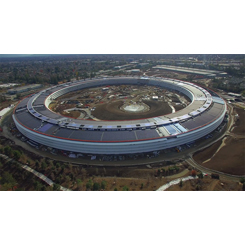 Apple Merkez Ofisi'nin Şantiyesinden Son Görüntüler
