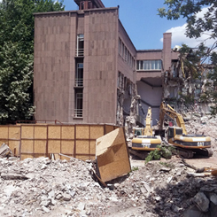 Tescilli İller Bankası Binası Yıkılıyor