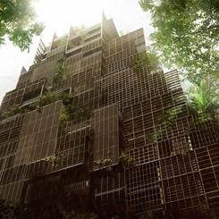 Jean Nouvel'den Dış Cephesi Bitki Kaplı Lüks Otel Konsepti