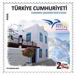 PTT'den Akdeniz'deki Evler Konulu Anma Pulu