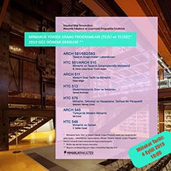 İstanbul Bilgi Üniversitesi Mimarlık Yüksek Lisans Programları