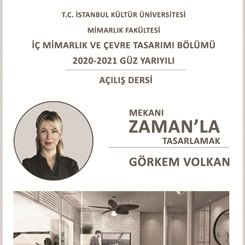 İstanbul Kültür Üniversitesi İç Mimarlık ve Çevre Tasarımı Açılış Dersi
